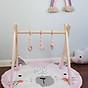 Thảm tròn nằm chơi 92cm cho bé, chơi kệ chữ A, chơi lều, tập lẫy 2