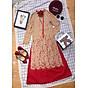 Áo Dài Cách Tân Ren Kèm Váy Diện Tết 1