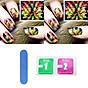 Miếng dán móng hoạ tiết hoa màu sắc (Kèm dũa và khăn) thumbnail