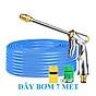 Máy bơm Evoucher Bộ dây vòi xịt nước rửa xe, tưới cây , tăng áp 3 lần, loại 7m, 10m 206701-2 đầu đồng, cút, nối PE thumbnail