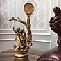 Đồng hồ quả lắc để bàn đồng và gỗ sồi DH100 - Đồng hồ để bàn cổ điển đẹp sang trọng kích thước 36 x 78 cm để kệ tủ trang trí phòng khách nhà ở. thumbnail