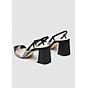 Giày Sandal Cao Gót Quai Da 2