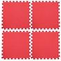 Thảm Xốp Cho Bé Trơn 60cmx60cm Vân Ô Vuông màu đỏ thumbnail
