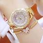 Đồng hồ nữ đính đá pha lê cao cấp (Vàng) 2