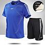Bộ quần áo thể thao nam ngắn tay nhanh khô thể dục thể thao thoáng khí - NB001 5