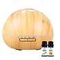 Máy khuếch tán ánh trăng vân gỗ sáng FX2040 + Tinh dầu sả chanh Lorganic(10ml) + Tinh dầu bưởi chùm Lorganic (10ml) Thích hợp xông phòng diện tích 15 - 40m2. 1