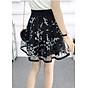 Chân váy xòe dáng ngắn họa tiết Haint Boutique( đen)-freesize cv05 3