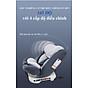 Ghế ô tô 2 chiều CHUẨN ISO 9001, điều chỉnh 4 tư thế từ nằm tới ngồi và có thể điều chỉnh độ cao 7 cấp cho bé từ 0-12 tuổi (xám) 2