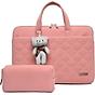 Túi xách chống sốc thời trang cho Laptop, Macbook tặng kèm túi đựng phụ kiện và gấu bông treo thumbnail
