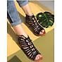 Giày sandal chiến binh da cắt đế thấp S370 thumbnail