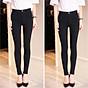 [ SIZE ĐẠI 60kg 90kg] Quần jean dài đen tuyền big size co dãn mạnh vải jean mềm lưng cao 2700 có rách gối 3
