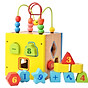 Đồ chơi gỗ đa năng- hộp thả khối kết hợp luồn hạt P giúp bé phát triển toàn diện_ đồ chơi trí tuệ thumbnail