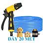 Máy bơm Evoucher Bộ dây vòi xịt nước rửa xe, tưới cây , tăng áp 3 lần, loại 20m 206236 đầu đồng, cút đồng thumbnail