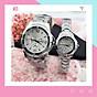 Đồng hồ thời trang nam nữ Rs1, mặt tròn dây kim loại màu bạc, mẫu đồng hồ cặp nam nữ hot, chạy 3 kim Giờ - Phút - Giây thumbnail