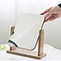 Gương trang điểm cao cấp chất liệu gỗ ép, điều chỉnh góc nhìn 360 độ loại lớn 6