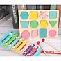 Combo Đàn Cầu Vồng + Bảng Ghép Hình Học 3D. Đồ Chơi Giáo Dục Sớm Montessori Cho Bé Từ 1 Tuổi ETED35NYN161FD thumbnail