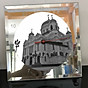 Đồng hồ thủy tinh vuông 20x20 in hình Cathedral Of Christ the saviour (12) . Đồng hồ thủy tinh để bàn trang trí đẹp chủ đề tôn giáo thumbnail