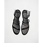 Sandal Nữ Quai Mảnh Đế Bệt Black Basic 2
