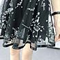 Chân váy xòe dáng ngắn họa tiết Haint Boutique( đen)-freesize cv05 4