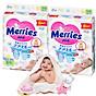 Combo 2 Tã Dán Merries S82 tặng khăn tắm sợi tre hình thỏ đáng yêu và đồ chơi tắm Toys House thumbnail