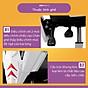 Ghế chơi game cao cấp, chân xoay ngã 135 độ dành cho game thủ có gối tựa đầu mẫu E03 Thái Lan (Hàng nhập khẩu) 8