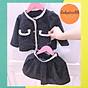 Set váy áo dạ rời bé gái 1.2.3.4.5.6.7.8 tuổi, thời trang thiết kế cao cấp cho bé từ 6-32kg v52 thumbnail