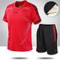 Bộ quần áo thể thao nam ngắn tay nhanh khô thể dục thể thao thoáng khí - NB001 3