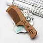 Lược gỗ đào tự nhiên kiểu dáng thẳng, chạm khắc rồng phượng, chạm khắc phú quý, bình an, ngũ phúc, hoa văn chống tĩnh điện LG01D thumbnail