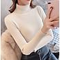 Áo Len Basic Kín Cổ Nữ Chất Liệu Cao Cấp Phong Cách Thời Trang Hàn Quốc Trẻ Trung Sành Điệu-Kem thumbnail