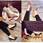 Giày cao gót nữ 9p gót nhọn da bóng dáng basic GC91 5