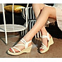 Giày Sandal Nữ Đế Suồng 7P Quai Cói - Đen 2