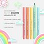 Xiaomi KACO 5 màu Bút dạ quang Bộ bút chì màu nổi bật cho trường học Bút đánh dấu VĂN PHÒNG 3