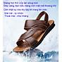 Giày Sandal phong cách thời trang Nhật Bản đế mềm chất liệu da bò thật phù hợp với các mùa trong năm mã 12129 6