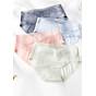 Combo 5 quần lót cotton lụa thông hơi mềm mại phối viền ren xinh xắn - ZQ9909 (Giao màu ngẫu nhiên) thumbnail