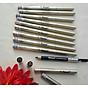 Chì vẽ mày sắc nét Aroma Eyebrow Pencil Hàn Quốc No.22 Black Brown tặng kèm móc khoá 4