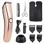 USB Charging Hair Clipper 3-6-9-12mm Guide Comb with Hair Clipper Stand Beard Comb Scissor and Cutting Cape thumbnail
