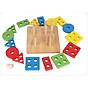 Bảng Chuỗi Thả Hình Bằng Gỗ Giáo Cụ Montessori Giúp Bé Phát Triển Tư Duy + Tặng Đồ Vật Kêu Chíp Chíp Hình Màu Ngẫu Nhiên thumbnail