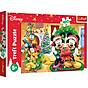 Tranh ghép hình puzzle 100 mảnh Mickey Giáng Sinh Trefl 16365 thumbnail