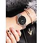 Đồng hồ nữ dây kim loại lưới bạc mặt tròn đen cá tính Fernweh ĐHĐ8801 thumbnail