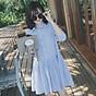 Đầm đũi nữ cổ bẻ sơ mi Đũi Việt DVDA132 3