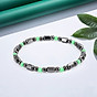 1 PCS Weight Loss Healthcare Round Black Stone Magnetic Therapy Hand Chain Body Care Hematite Stretch Bracelet Magnet 4