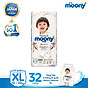 Tã quần Moony Natural XL32 tặng hộp 4 miếng tã quần Moony Natural XL thumbnail