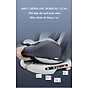 Ghế ô tô 2 chiều CHUẨN ISO 9001, điều chỉnh 4 tư thế từ nằm tới ngồi và có thể điều chỉnh độ cao 7 cấp cho bé từ 0-12 tuổi (xám) 3