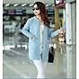 Áo khoác len dáng dài phong cách Hàn Quốc 1