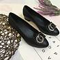 Giày cao gót nữ công sở đế 4p đính nơ đá xinh xắn hàng VNXK siêu bền M19 thumbnail