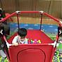 Quây bóng quây cũi khung Inox cho bé gái (có cửa chui) thumbnail