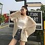 Áo Khoác Cardigan Nữ Len Mỏng Dệt Kim Siêu Hot 6