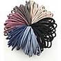 Set 100 dây chun buộc tóc trơn các màu 1