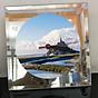 Đồng hồ thủy tinh vuông 20x20 in hình tu viện Mont Saint-Michel (52) . Đồng hồ thủy tinh để bàn trang trí đẹp chủ đề tôn giáo thumbnail