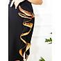 Đầm ôm dự tiệc đủ size kiểu đầm phối cách điệu tà bèo kim sa vàng GOTI3048 2